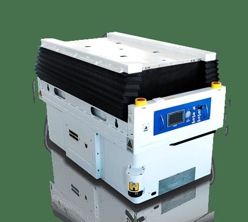 AGV s možnosťou prenášať bremeno na ložnej ploche